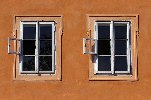 Window, Prague, Twins