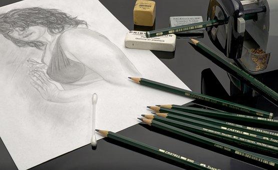 Pencil, Pens, Lead, Write, Draw, Stationery, Desk