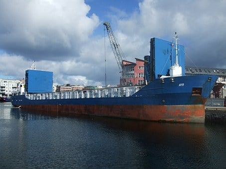 Cargo Ship, Galway, Galway Docks, Ireland, Ayr, Cargo