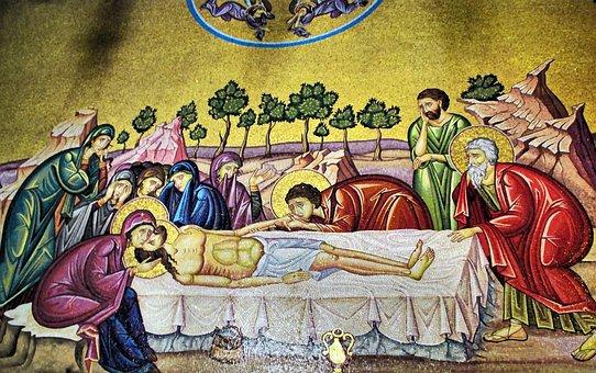 Jerusalem, Holy Sepulchre, Mosaic, Basilica, Shroud