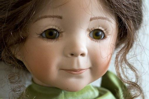 Collector's Doll, Detail, Face, Brown Eyes, Pink Lips