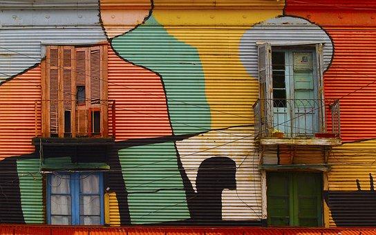 Caminito, Buenos Aires, Argentina, Building, Facade