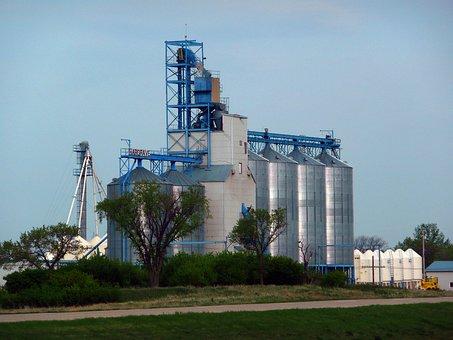 Silo, Grain Elevator, Garner, Bulk, Building, Farming