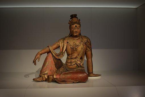 Museum, Sculpture, Exhibition, Buddha, Religion, China