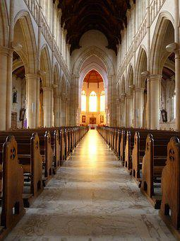 Church, Aisle, Pew, Faith, Christian, Belief, Worship