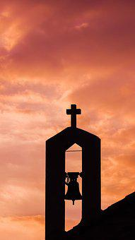 Belfry, Sunset, Clouds, Church, Religion, Cyprus