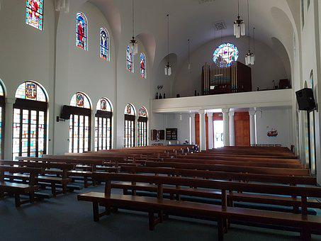 Church, Stained Glass, Stained Glass Window, Stained