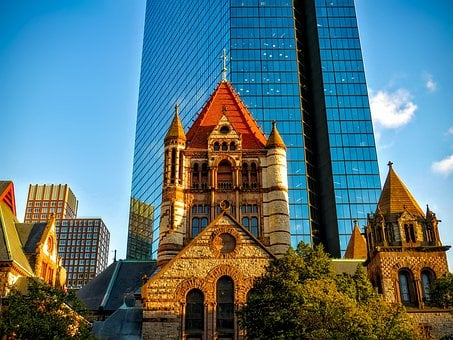 Boston, Massachusetts, Downtown, City, Urban, Cityscape