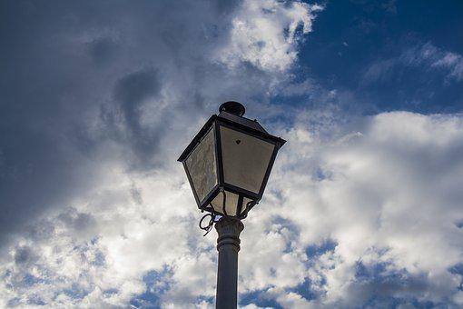 Street Lamp, Lighting, Light Pole, Sky, Clouds