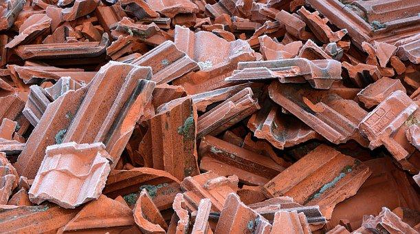 Brick, Tile, Construction Material, Old, Bulk, Stock