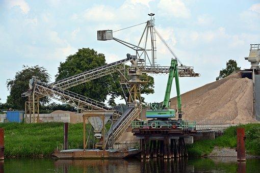 Conveyor Belt, Kieswerk, Concrete Plant, Industry