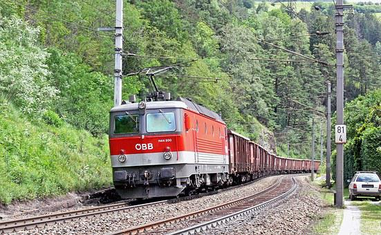 Train, Burner, Brenner Line, öbb, Descent, Tyrol