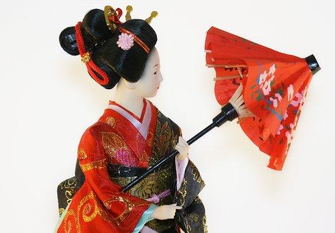Geisha, Woman, Japanese, Doll, Girl, Mode, Model