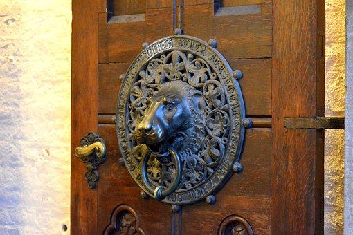 Church, Door, Fitting, Oldest Treasure Of Hamburg
