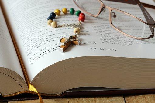 The Rosary, Bible, Prayer, Glasses, Religion, Faith