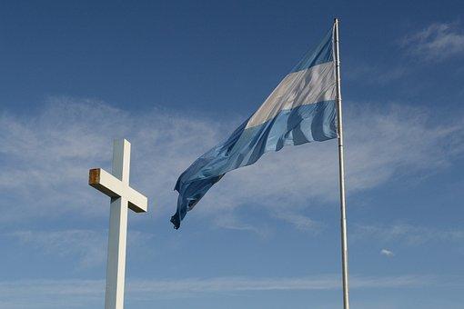 Landscape, Flag, Argentina, Christ