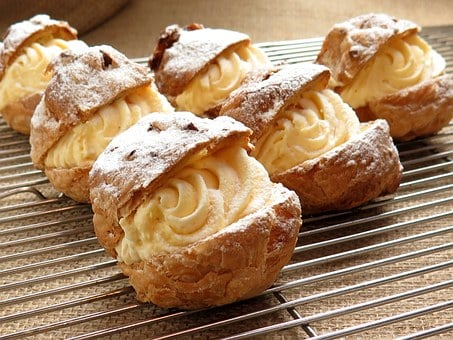 Cream Puffs, Delicious, France Confectionery, Food
