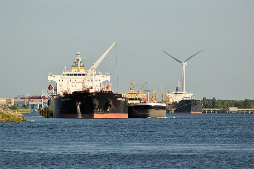 Freighter, Cargo Ship, Industry, Port, Goods