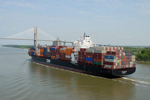 Cargo Ship, Freighter, Savannah, Georgia, River, Ship