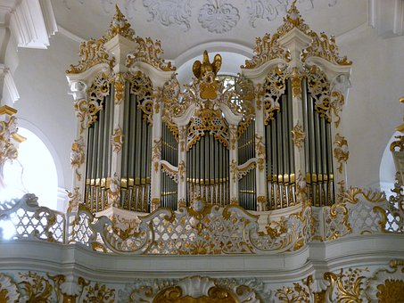 Pilgrimage Church Of Wies, Organ, Baroque, Gallery