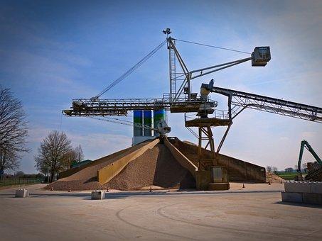 Concrete Plant, Kieswerk, Concrete, Commodity, Industry