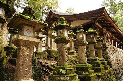 Lantern, Japan, Temple, Kasuga Taisha, Shinto, Nara