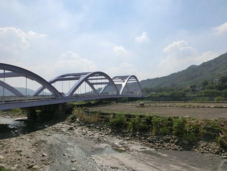 Jiaxian Dist, Kaohsiung City, Taiwan, River, Bridge