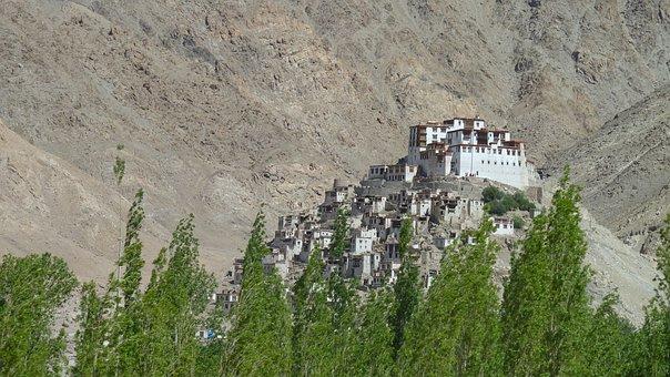 Leh, India, Monastery, Ladakh, Buddhism, Travel