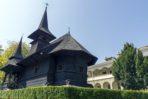 Church, St Mary, Monastery, Wood, Techirghiol, Romania