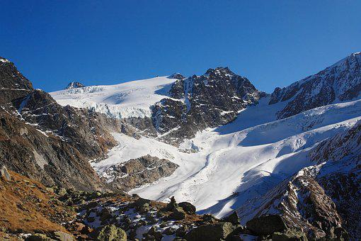 Glacier, Mountains, Alpine, Langtaufers, Melag
