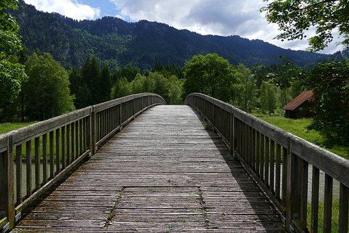 Bridge, Web, Boardwalk, Mountain, Alpine, Nature, Away
