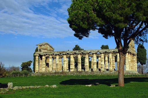 Paestum, Salerno, Italy, Temple Of Athena, Magna Grecia