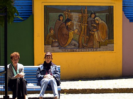 Buenos Aires, Argentina, Wall, Painting, Caminito