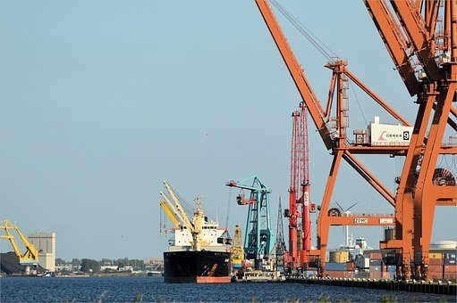 Cargo Ship, Freighter, Industry, Port, Goods, Crane