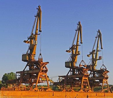 Port, Harbour Cranes, Betriebsverschmutzt, Investors