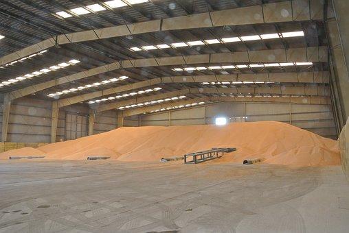 Corn, Warehouse, Bulk, Port Of Sagunto, Ship
