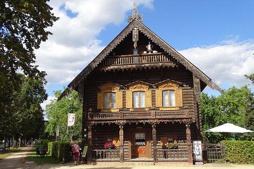Germany, Potsdam, Aleksandrovka, Wood Carving, Russian
