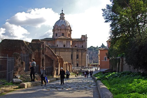 Rome, Fori Imperiali, Italy, Archaeology