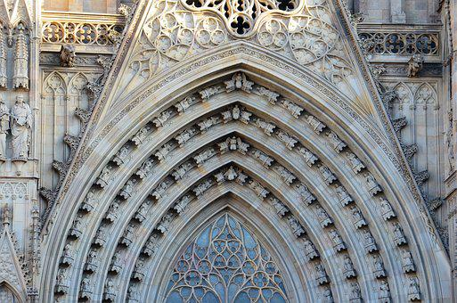 Barcelona, Cathedral, Places Of Interest, Spain