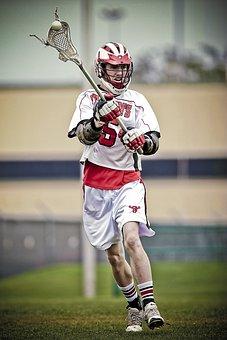 Lacrosse, Player, Stick, Ball, Action, Helmet, Sport