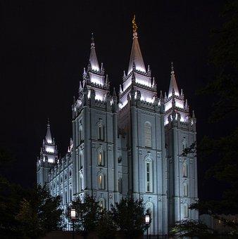 Salt Lake City, Utah, Usa, Temple Square