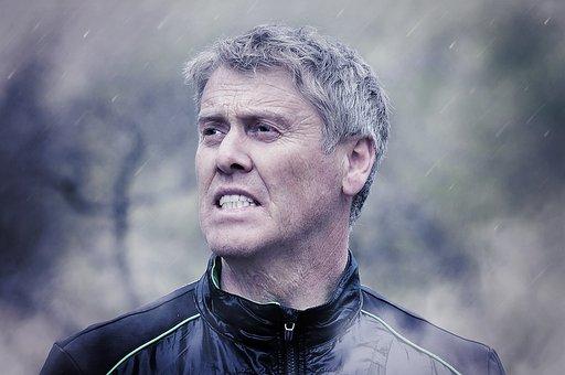 Human, Man, Face, Fog, Rain, Out, View, Portrait