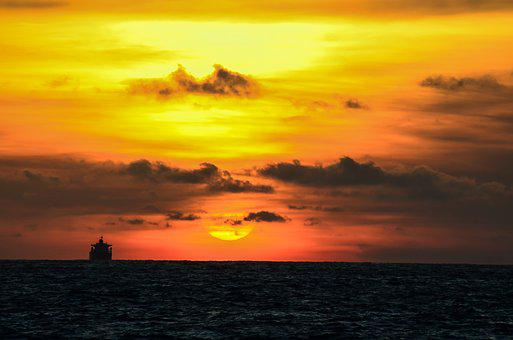 Kaohsiung, West Bay, Sunset, Ship