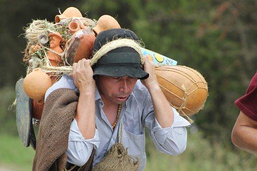 Peasant, Colombian, Work, Field, Art