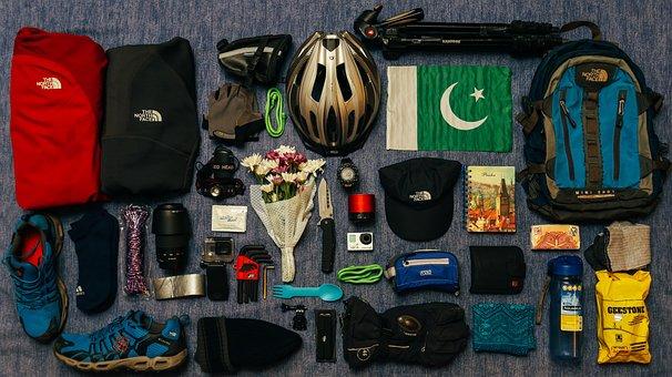 Helmet, Camera, Accessories, Lens Bag, Beanie, Backpack
