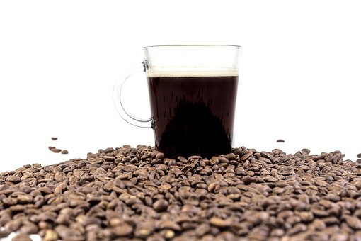 Beans, Seeds, Black, Brewed, Coffee, Hot