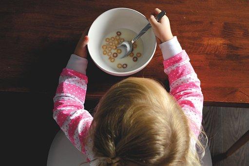 People, Kid, Child, Baby, Eating, Cereal, Milk, Food