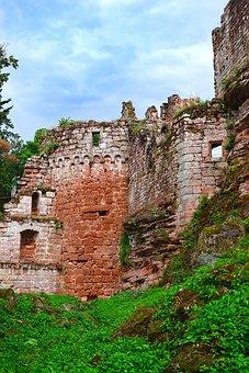 Castle, Ruin, France, Sandstone, Heritage