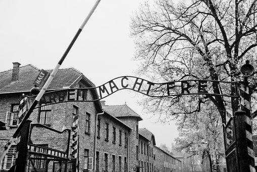 Auschwitz, Gate, Holocaust, Poland, Concentration, Camp