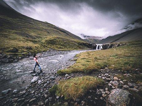 Mountain, Highland, Cloud, Sky, Ridge, Landscape